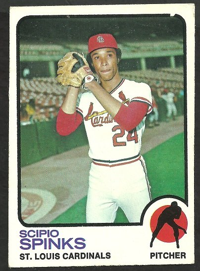 ST LOUIS CARDINALS SCIPIO SPINKS 1973 TOPPS # 417 VG