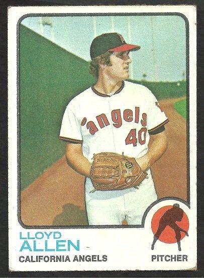 CALIFORNIA ANGELS LLOYD ALLEN 1973 TOPPS # 267 VG+/EX