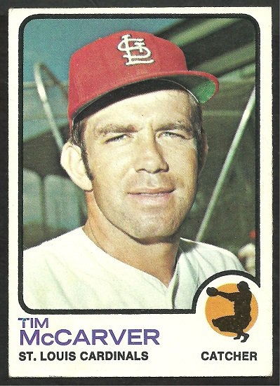 ST LOUIS CARDINALS TIM McCARVER 1973 TOPPS # 269 EX