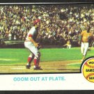 REDS ATHLETICS WORLD SERIES GAME 5 JOHNNY BENCH 1973 TOPPS # 207 NT MT OC