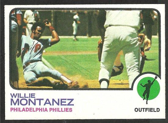 PHILADELPHIA PHILLIES WILLIE MONTANEZ 1973 TOPPS # 97 EX MT