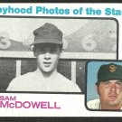 San Francisco Giants Sam McDowell 1973 TOPPS # 342 ex mt