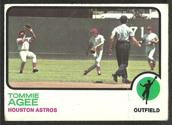 HOUSTON ASTROS TOMMIE AGEE 1973 TOPPS # 420 VG