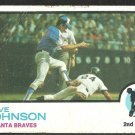 ATLANTA BRAVES DAVE JOHNSON 1973 TOPPS # 550 G