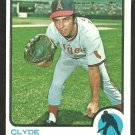 CALIFORNIA ANGELS CLYDE WRIGHT 1973 TOPPS #373 EX