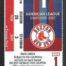 BOSTON RED SOX 2009 AMERICAN LEAGUE CHAMPIONSHIP SERIES ALCS FULL TICKET