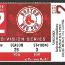 BOSTON RED SOX 2009 AMERICAN LEAGUE DIVISION SERIES ALDS FULL TICKET