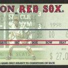 TEXAS RANGERS @ BOSTON RED SOX 1998 TICKET PEDRO MARTINEZ 10 SO NOMAR PHOTO