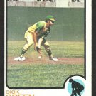 Oakland Athletics Dick Green 1973 Topps Baseball Card 456 vg/ex