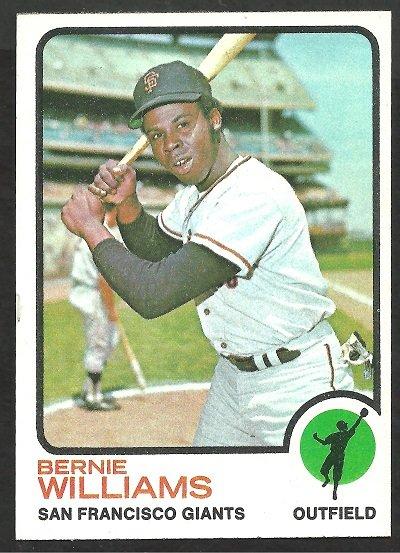 San Francisco Giants Bernie Williams 1973 Topps Baseball Card 557 ex/nm