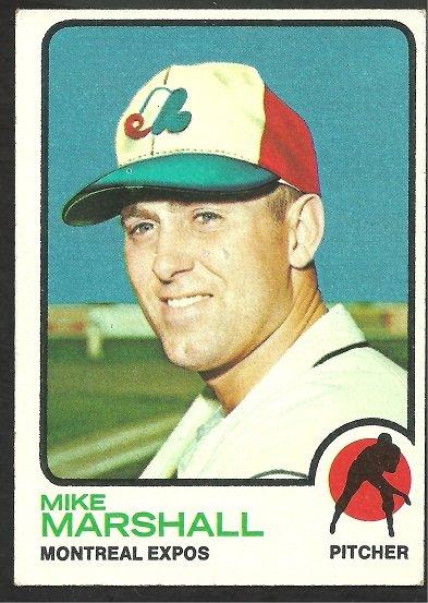 Montreal Expos Mike Marshall 1973 Topps Baseball Card 355 ex