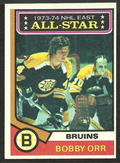 Boston Bruins Bobby Orr All Star 1974 Topps Hockey Card 130