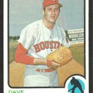 Houston Astros Dave Roberts 1973 Topps Baseball Card 39 ex mt