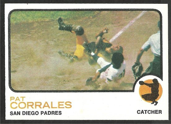 San Diego Padres Pat Corrales 1973 Topps Baseball Card 542 nr mt