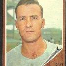 Cincinnati Reds Dave Hillman 1962 Topps Baseball Card 282 vg