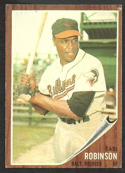 Baltimore Orioles Earl Robinson 1962 Topps Baseball Card 272 vg/ex