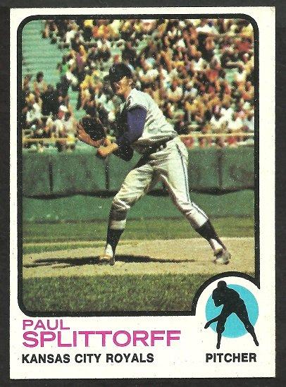 Kansas City Royals Paul Splittorff 1973 Topps Baseball Card 48 ex/nm