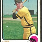SAN DIEGO PADRES DAVE CAMPBELL 1973 TOPPS # 488 good