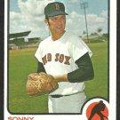BOSTON RED SOX SONNY SIEBERT 1973 TOPPS # 14 NM