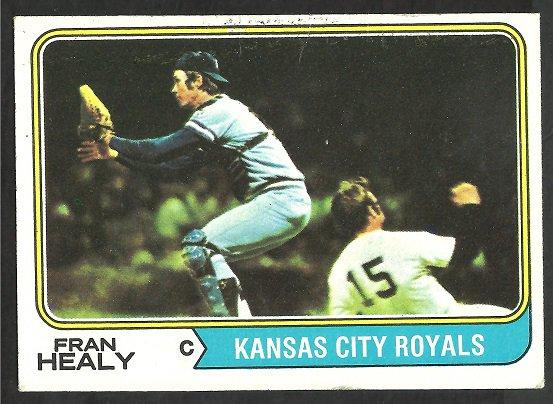KANSAS CITY ROYALS FRAN HEALY YANKEES THURMAN MUNSON 1974 TOPPS # 238 VG
