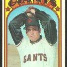 1972 Topps Baseball Card # 327 San Francisco Giants Steve Stone Rookie Card RC vg+