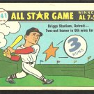 1981 Fleer Baseball Card Boston Red Sox Ted Williams 1941 All Star Game