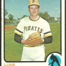 PITTSBURGH PIRATES LUKE WALKER 1973 TOPPS # 187 G+/VG