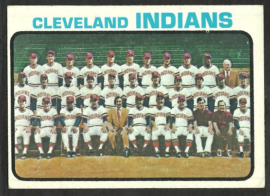 CLEVELAND INDIANS TEAM CARD 1973 TOPPS # 629 VG/EX
