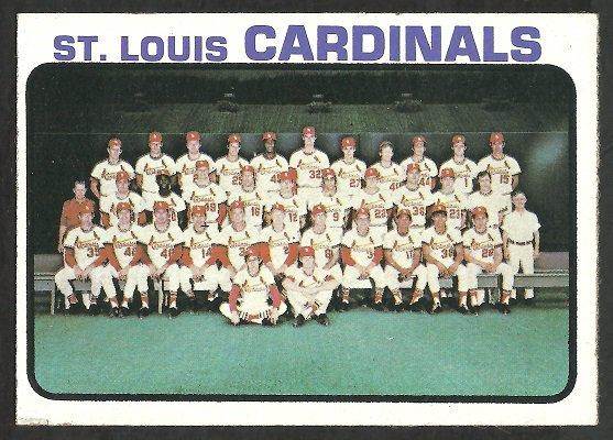 ST LOUIS CARDINALS TEAM CARD 1973 TOPPS # 219 VG