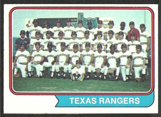 TEXAS RANGERS TEAM CARD 1974 TOPPS # 184 EX