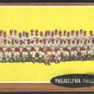 PHILADELPHIA PHILLIES TEAM CARD 1962 TOPPS # 294 good