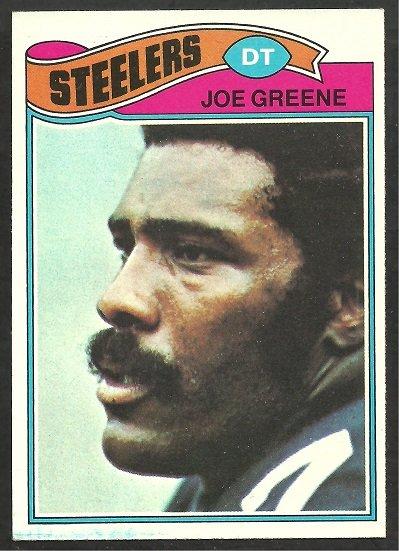 PITTSBURGH STEELERS MEAN JOE GREENE 1977 TOPPS # 405 EM/NM