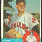 CLEVELAND INDIANS PEDRO RAMOS 1963 TOPPS # 14 good