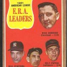ERA LDRS YANKEES TIGERS INDIANS ORIOLES 1962 TOPPS # 55 NR MT