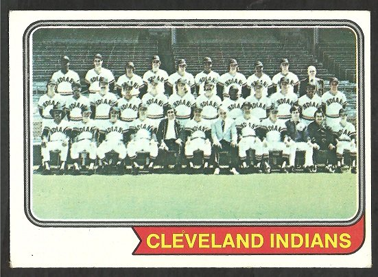 CLEVELAND INDIANS TEAM CARD 1974 TOPPS # 541 EX