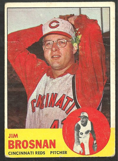 CINCINNATI REDS JIM BROSNAN 1963 TOPPS # 116 good