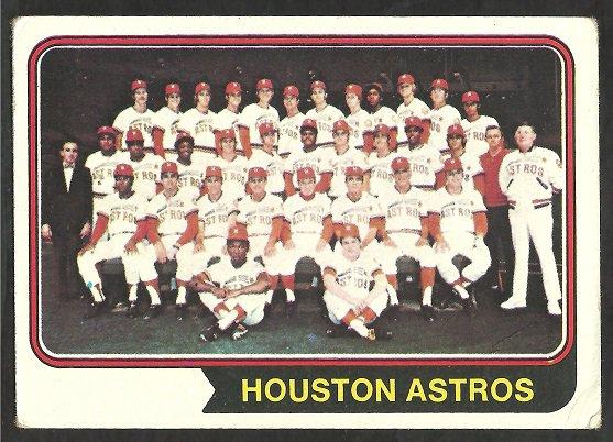 HOUSTON ASTROS TEAM CARD 1974 TOPPS # 154 g/vg