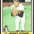 1976 Topps Baseball Card # 84 San Diego Padres Brent Strom vg/ex
