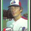 1981 Topps Baseball Card # 267 Montreal Expos Stan Bahnsen nr mt