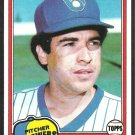 1981 Topps Baseball Card # 271 Milwaukee Brewers Bill Castro nr mt