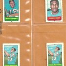 1969 Topps 4 in 1 Stamps Miami Dolphins Team Lot Bob Griese Karl Noonan Willie West