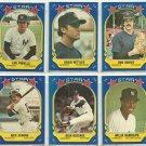 1981 Fleer Star Stckers New York Yankees Team Lot Reggie Jackson Nettles Gossage Piniella Ron Guidry