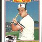 1987 Topps Glossy All Star Insert Baseball Card # 16 Baltimore Orioles Cal Ripken