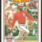 1987 Topps Glossy All Star Insert Baseball Card # 22 St Louis Cardinals Ozzie Smith