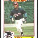 1987 Topps Glossy All Star Insert Baseball Card # 19 Minnesota Twins Kirby Puckett