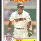 1987 Topps Glossy All Star Insert Baseball Card # 6 San Diego Padres Tony Gwynn