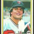 1981 Topps Baseball Card # 278 Minnesota Twins Rick Sofield nr mt