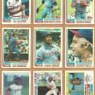 1982 Topps Texas Rangers Team Lot 26 Fergie Jenkins Buddy Bell Al Oliver Rivers Sundberg Matlack