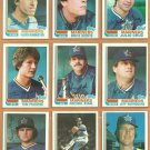 1982 Topps Seattle Mariners Team Lot 24 Julio Cruz Bochte Jeff Burroughs Bannister Paciorek Zisk