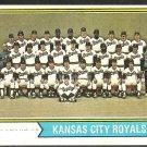 KANSAS CITY ROYALS TEAM CARD 1974 TOPPS # 343 VG/EX